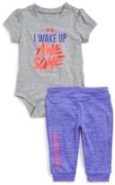 Under Armour Infant Girl's I Wake Up Awesome Bodysuit & Leggings Set