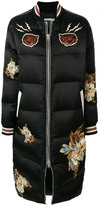 Coach graphic print padded coat