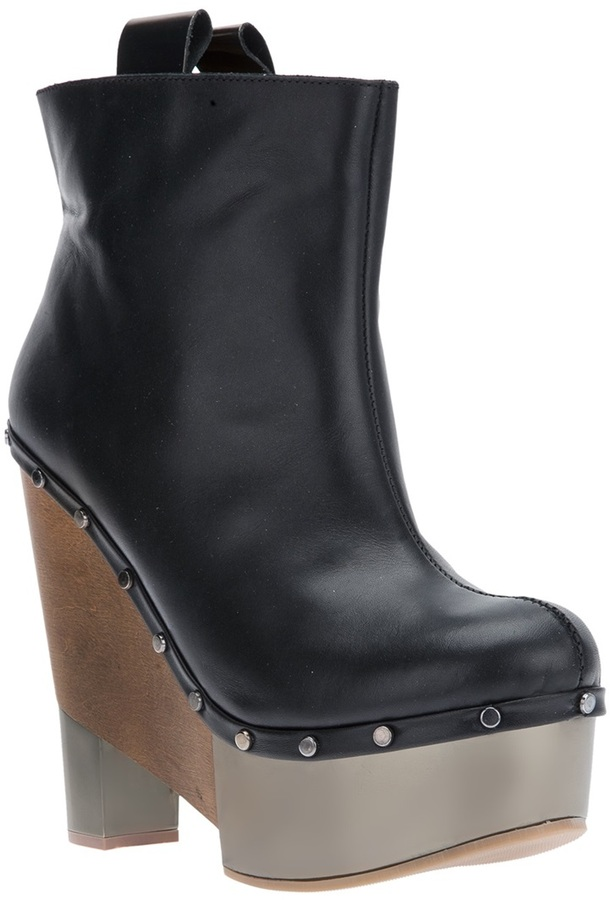 Pollini wedge ankle boot