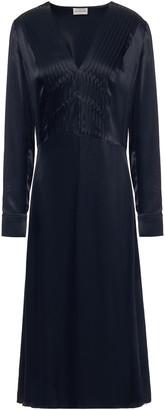 By Malene Birger Pintucked Satin-crepe Midi Dress