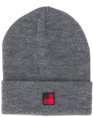 Woolrich Kids Logo Patch Knitted Hat
