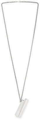 Alyx Logo-Embossed Silver-Tone Lighter Case Necklace
