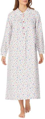 Lanz Of Salsburg Eyelet-Trimmed Cotton Nightgown
