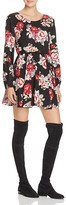 MinkPink Lattice Back Floral Fit-and-Flare Dress - 100% Bloomingdale's Exclusive