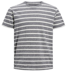 Jack and Jones Men's Stripe Crew Neck Organic Short Sleeve T-shirt