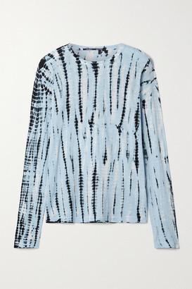 Proenza Schouler Tie-dyed Cotton-jersey Top - Light blue