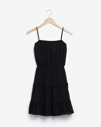 Express Tiered Square Neck Mini Dress