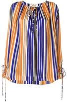 Mulberry striped blouse