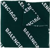 Balenciaga all-over logo knitted scarf