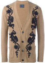 Laneus floral embroidery cardigan