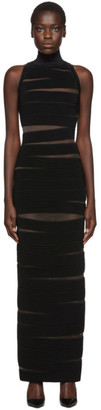 Balmain Black Sleeveless Long Dress