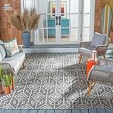 Estaugh Ikat Black/Gray Indoor / Outdoor Area Rug Union Rustic Rug Size: Rectangle 8′ x 11′