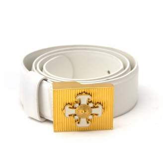 Versace White Leather Belts