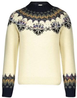 Dries Van Noten Tiles round neck jacquard knit merino wool jumper