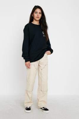 Santa Cruz UO Exclusive Ecru Carpenter Skate Trousers - white UK 6 at Urban Outfitters