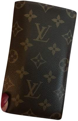 Louis Vuitton Couverture Passeport Brown Leather Purses, wallets & cases