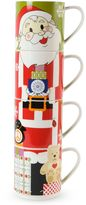 Maxwell & Williams Maxwell & WilliamsTM Kris Kringle Santa Stackable Holiday Mugs (Set of 4)