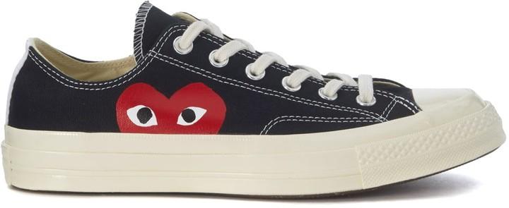 Comme des Garcons X Converse Sneaker In Black Canvas