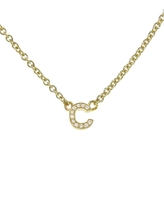 Jennifer Meyer Lowercase Diamond Initial Pendant Necklace - Yellow Gold