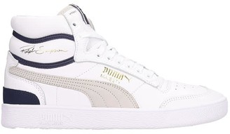 Puma Ralph Sampson Sneakers In White Leather