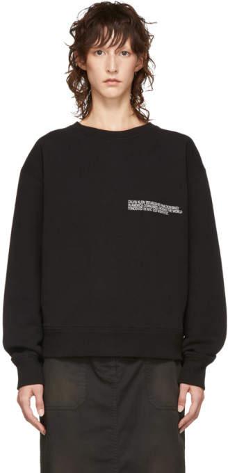 Calvin Klein Black Logo Crewneck Sweatshirt