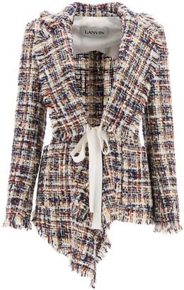 Lanvin Asymmetrical Tweed Jacket