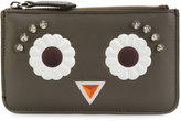 Fendi Faces keyring pouch - women - Leather - One Size