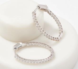 Affinity Diamond Jewelry Affinity 14K Gold Diamonds Oval Hoop Earrings, 1/2cttw
