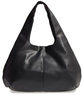 Sole Society Rouge Faux Leather Hobo - Black