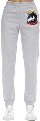 Moschino High Waist Cotton Jersey Sweatpants