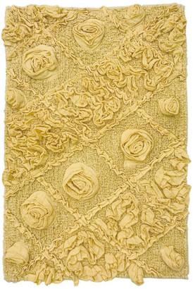 "Home Weavers Inc. Modesto Bath Rug, 24""x40"", Yellow"