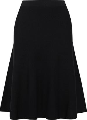 Iris & Ink Keki Flared Stretch-knit Skirt