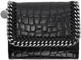 Stella McCartney Black Croc Small Falabella Flap Wallet