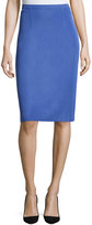 Misook Essential Pencil Skirt, Blue