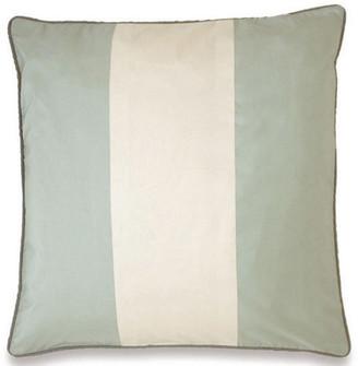 OKA Silk Taffeta Stripe Cushion Cover - Pale Blue