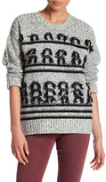 Current/Elliott The Jacquard Fringe Wool Sweater