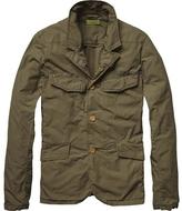 Scotch & Soda Men's Summer Army Blazer Jacket - Olive Green