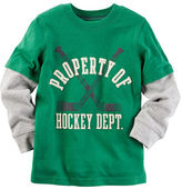 Carter's Long-Sleeve Layered-Look Hockey Department Graphic Tee
