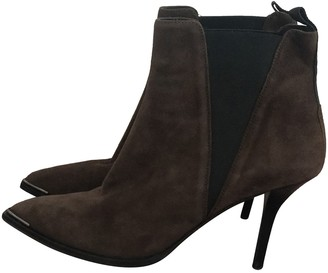 Acne Studios Brown Suede Ankle boots