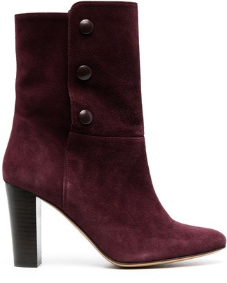 Tila March Studded Suede Ankle Boots