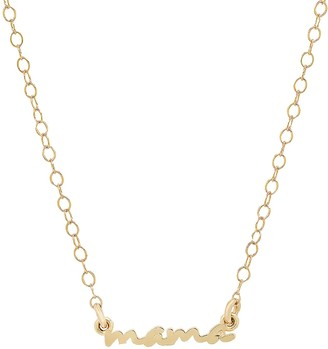 Elliot Young Fine Jewelry 14K Gold Use Your Words Cursive Mama Necklace