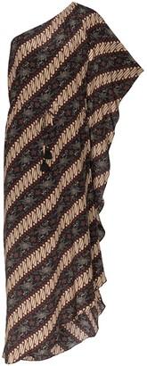 Figue Maisie batik-print striped dress