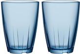 Kosta Boda Set of 2 Bruk Tall Tumblers - Blue