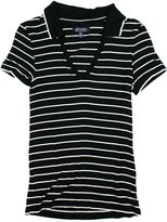 American Eagle Soft & Sexy Women's Ribbed Tipped Polo Shirt 031