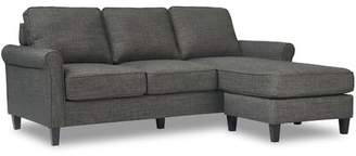 Harmon Serta at Home Serta Rolled Arm Reversible Sectional Serta at Home Upholstery Color: Dark Gray