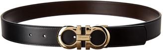 Salvatore Ferragamo Reversible & Adjustable Leather Belt