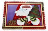 """Bon Appetit Santa's Milk 'N Cookies Collection Set of 6 Expanded Foam Vinyl Placemat (18"""" x 13"""" x 0.2"""")"""