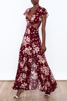 Reverse Floral Cut Out Dress