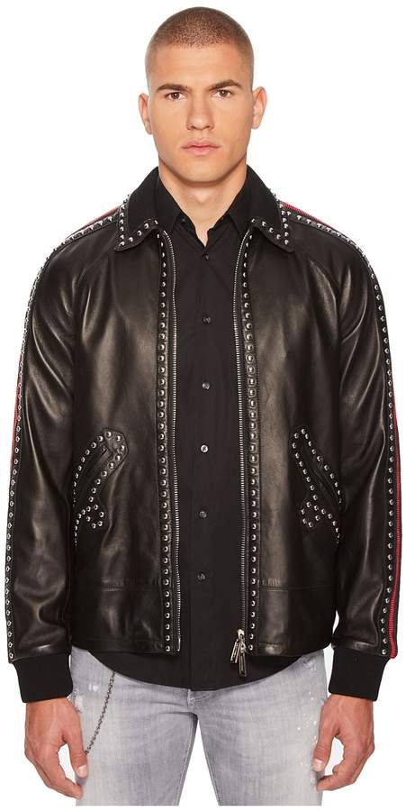 DSQUARED2 50s Leather Jacket