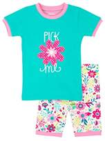 Hatley Girl's 100% Organic Cotton Short Sleeve Appliqué Pyjama Sets